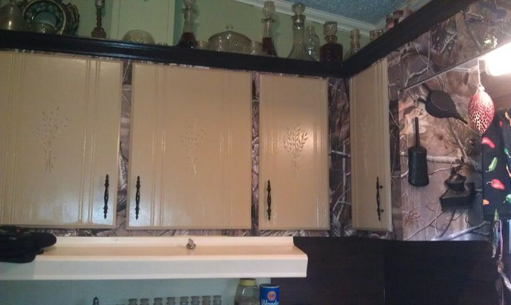 Camo kitchen cabinets my next projects pinterest for Camo kitchen ideas
