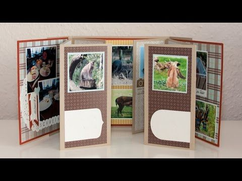 Traci Cornelius's Stampin Up Tecnique Class - April - One Sheet Wonder Mini Album - YouTube