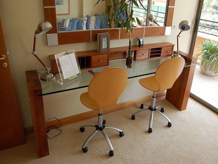 Resultado de imagen para mesas de escritorio de vidrio con madera