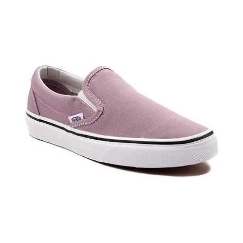 Slip into the timeless skate style of the Slip On Skate Shoe from Vans. These Slip-On Skate Sneakers embody iconic skate design, featuring a low profile built with sturdy canvas uppers, dual elastic goring for easy slip-on and off, and vulcanized sole construction for enhanced board feel and premium traction.