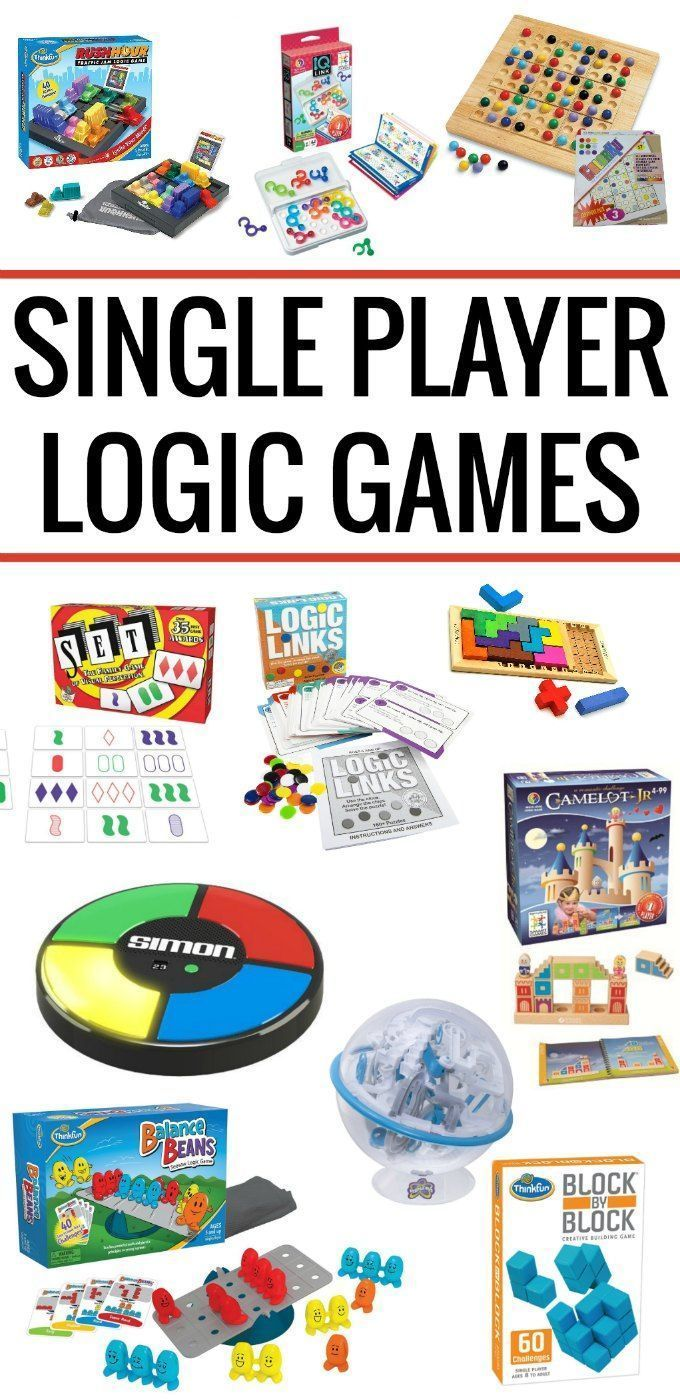 Best single player logic games for kids. These card games and board games make great gifts!