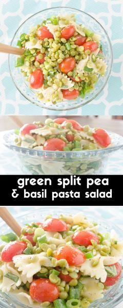 Split peas are not just for soup! They shine in this pasta salad recipe with fresh tomatoes and lemon basil dressing.