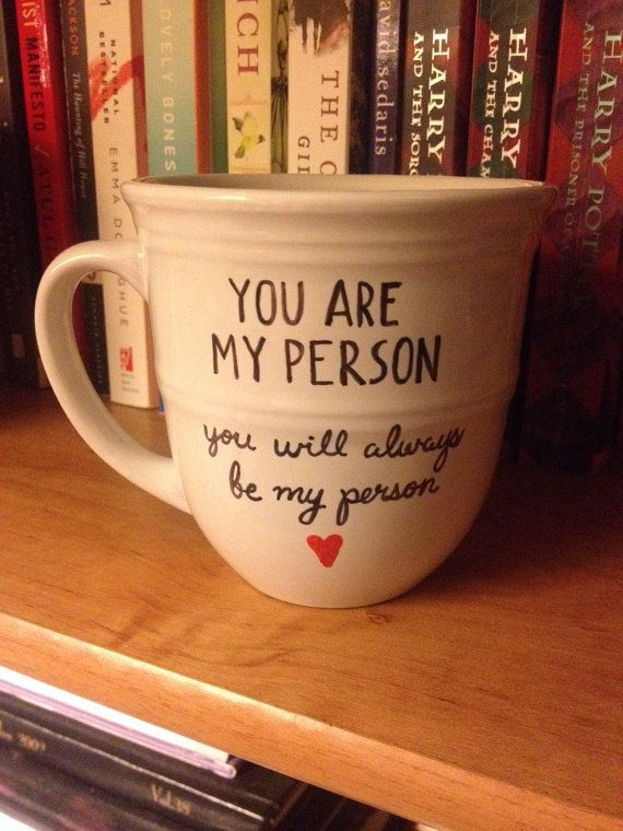 You Are My Person Grey's Anatomy Quote coffee by HelloSweetieGifts