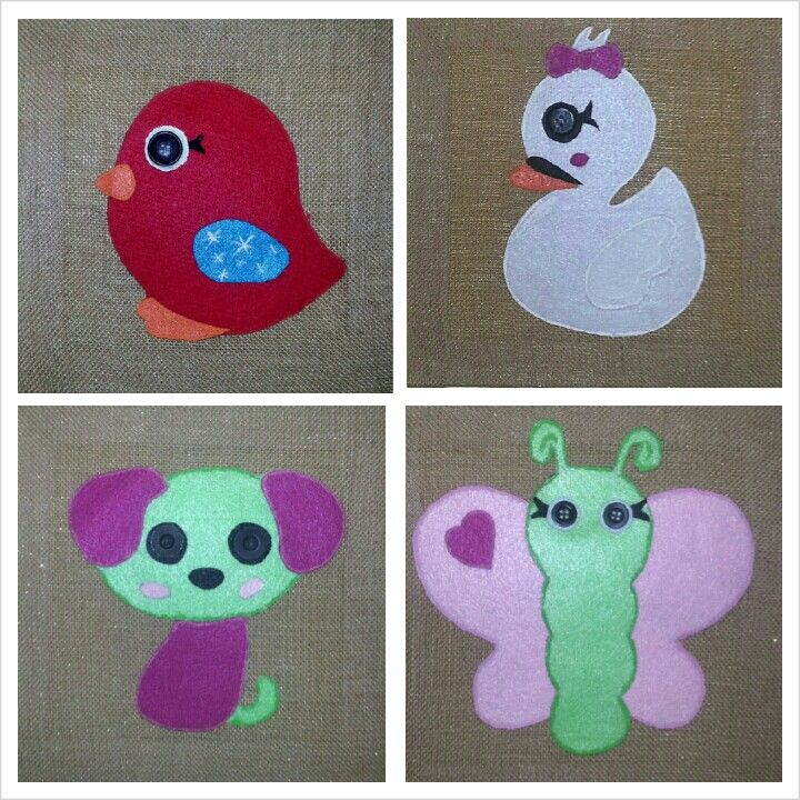 """Lalaloopsy Pets - enlarged copies of coloring pages, felt, buttons, burlap """"canvases"""" and voila!"""