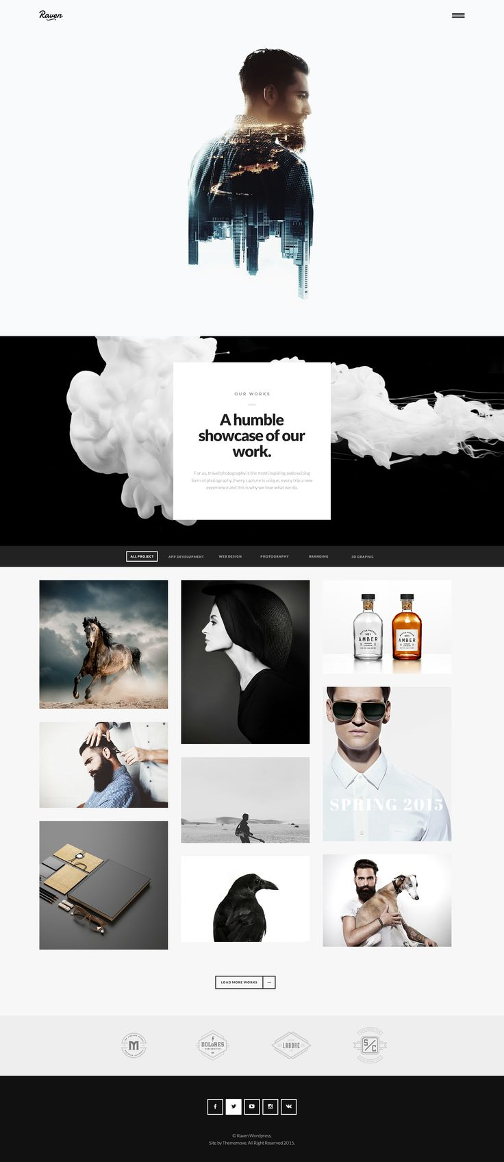 Branding portfolio lahore punjab lahore graphic and web design - Raven Is Creative Minimal Wordpress Theme Designed For Who Wants To Build A Site With