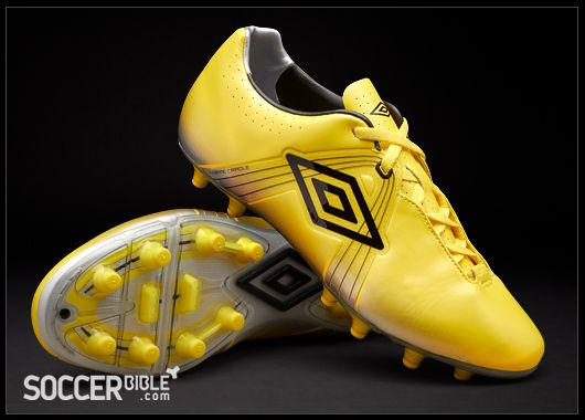 Umbro GT Pro Football Boots - Yellow/Silver - http://www.soccerbible.com/news/football-boots/archive/2011/07/26/umbro-gt-pro-football-boots-yellow-silver.aspx