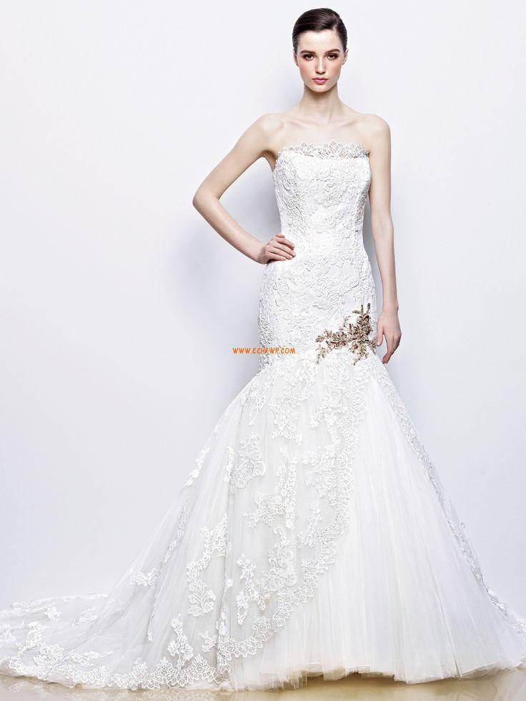 Glamorous & Dramatic Appliques Zipper Wedding Dresses 2014