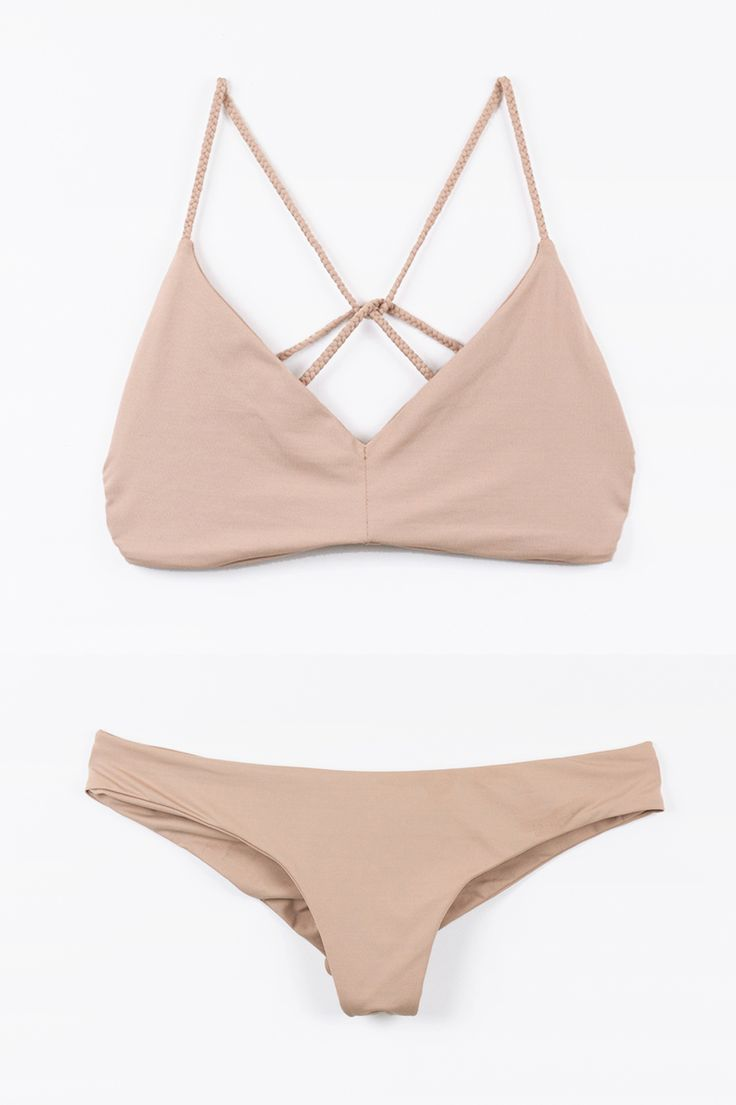 Deb Top + Clairee Bottom Bikini in NAKED #boysandarrows