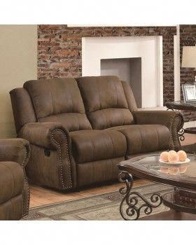sir rawlinson traditional gliding reclining love seat with nailhead rh pinterest com