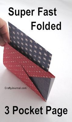 Super Fast Folded 3 Pocket Page by Crafty Journal...easy to make and could be…