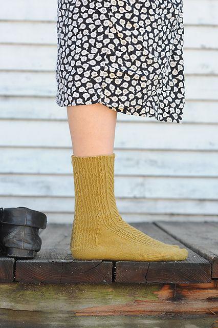 Ravelry: Abbey Road Socks pattern by Ann Budd