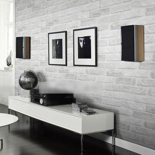 Modern Textured Wallpaper | textured feature Brick Wallpaper Modern Brick Pattern Paper Wallpaper ...