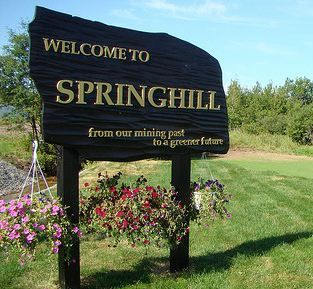Springhill, Nova Scotia where singer Anne Murray was born