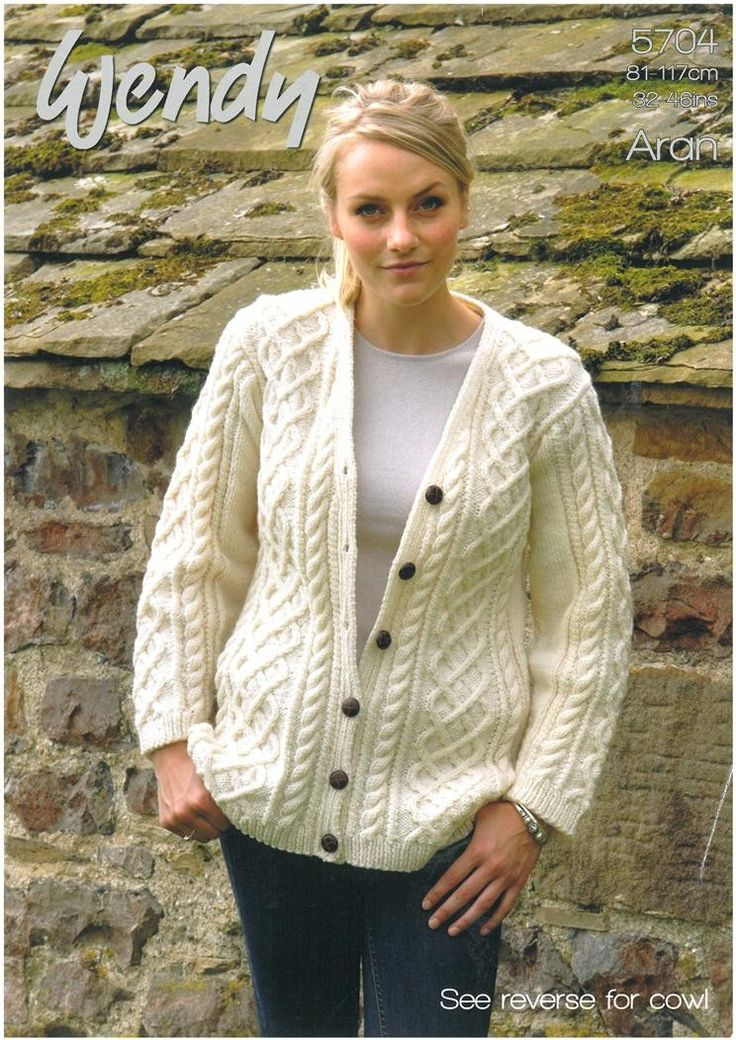 Easy Aran Cardigan Knitting Pattern : 5224 best Knitting images on Pinterest Knitting, Free ...