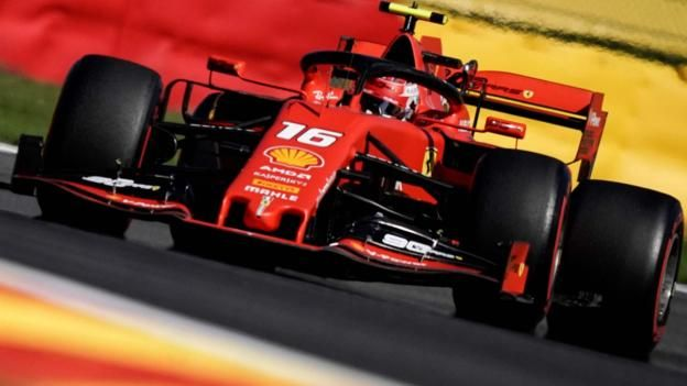 Belgian GP: Ferrari fastest as Lewis Hamilton struggles in practice