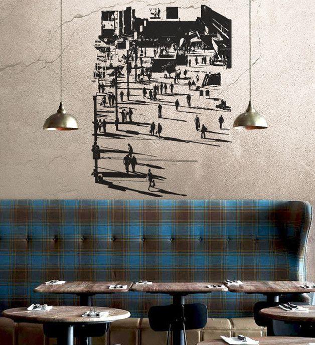 Marvelous Berlin Alexanderplatz II u VinylART Wall Sticker von UrbanARTBerlin INTERIOR Restaurant Bar Cafe