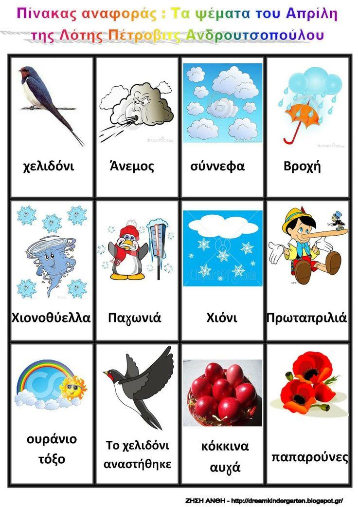 Το νέο νηπιαγωγείο που ονειρεύομαι : Τα ψέματα του Απρίλη της Λότης Πέτροβιτς Ανδρουτσοπούλου : Ιδέες και φύλλα εργασίας για το νηπιαγωγείο