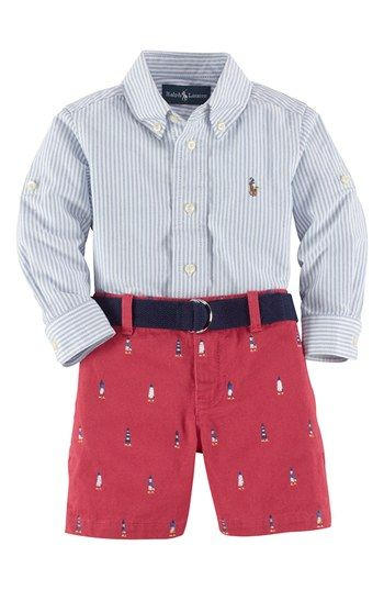 Ralph Lauren Shirt & Shorts (Baby Boys) available at #Nordstrom