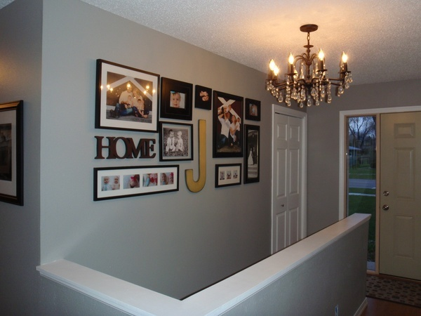gallery wall with initials