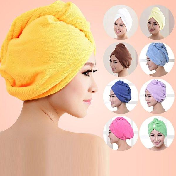 Pink. Orange Yellow Towel Turban Purple Blue White Green Hair Towel Wrap