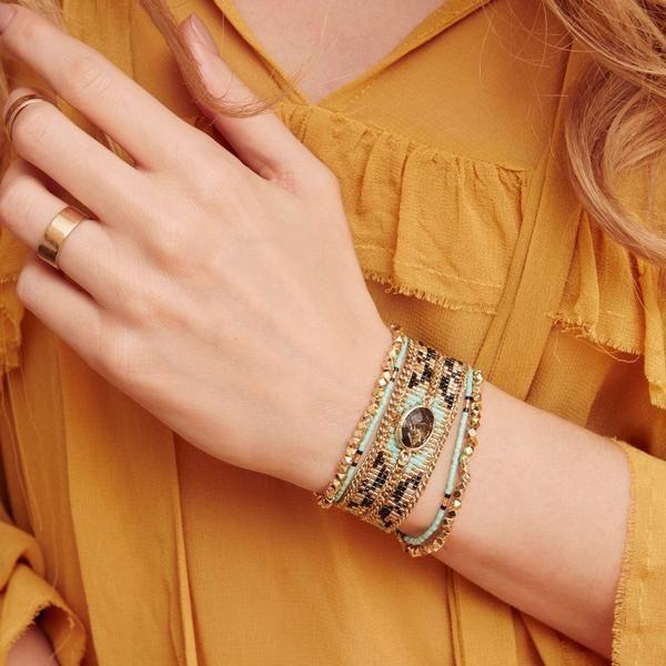 Hipanema Eternity Bracelet Turquoise front