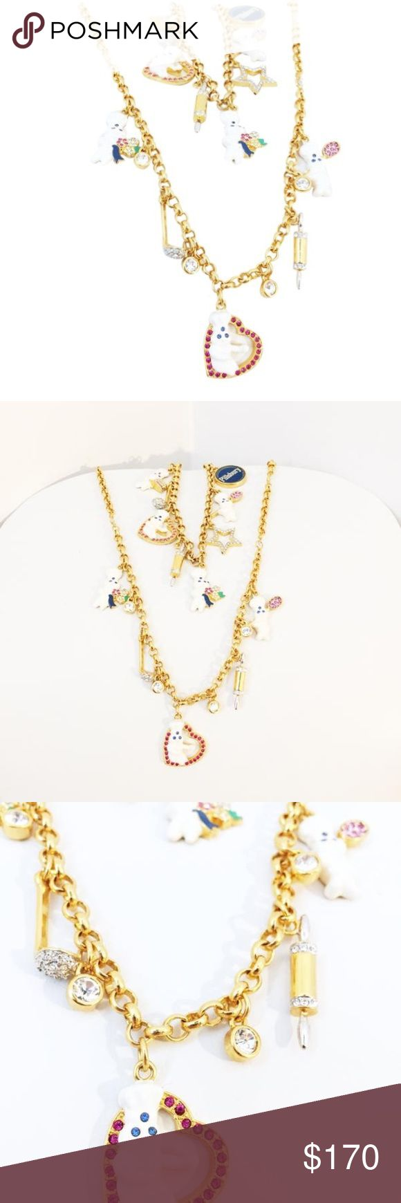 Danbury Mint limited pillsbury dough charm set Limited edition 24k gold plated Danbury mint pillsbury dough boy charm bracelet and necklace set danbury mint Jewelry Necklaces