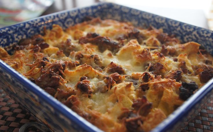 Little Bit of Everything: Sausage and Waffle Breakfast Bake