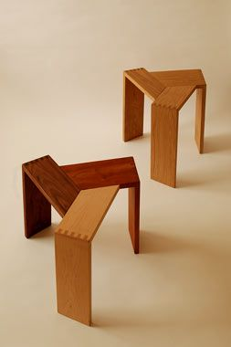 Sansa stool by by koizumi studio vary size and make stackable or maybe end tables or plant holders