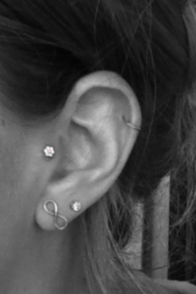 Just got my tragus pierced! I have a normal earring in at ...