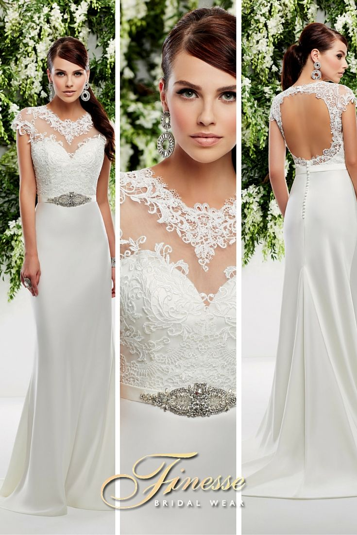Beautiful and Elegant Slinky Wedding Dress from Finesse Bridal Wear, Listowel, Co. Kerry, Ireland #WeddingDressDetail #PrincessBride