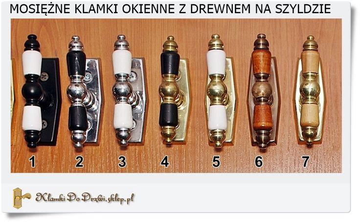 Różne modele i wzory klamek do okna Polskie rzemiosło