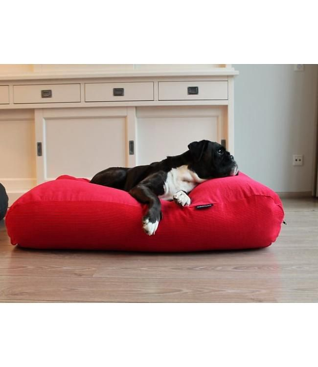 Dog's Companion dog bed red corduroy