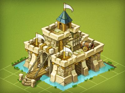 Castle Fortress by Pykodelbi.deviantart.com on @deviantART