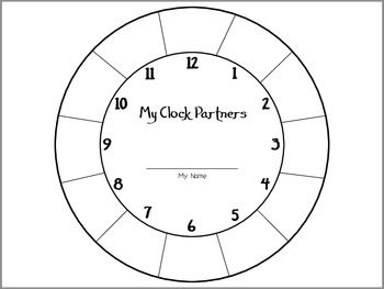 Clock Partners Student Sheet
