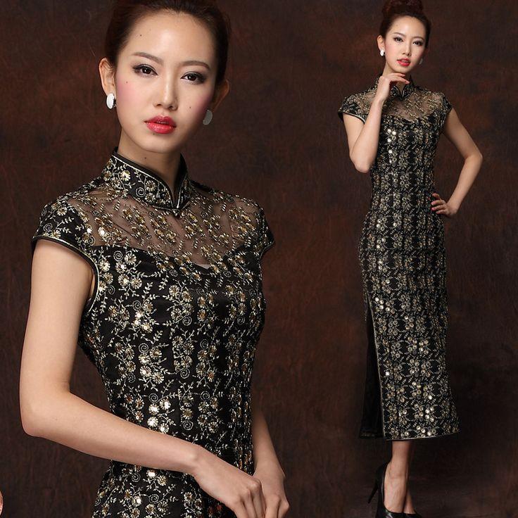 Luxury High Quality Long Lace Qipao - Qipao - Cheongsam - Women
