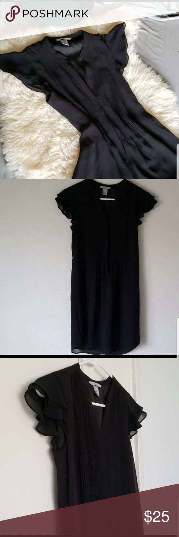 H&M Little black dress Perfect little black dress Features sheer ruffle sleeves …