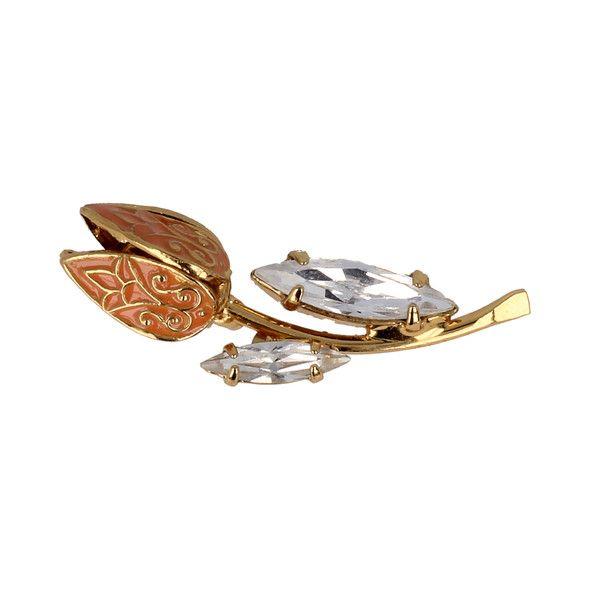 Tulip Pin  Description: Deze prachtige Tulip kleding pin is elegant en ingetogen. Het is een exclusief ontwerp en geïnspireerd op de bekendste bloemensoort van Nederland de tulp! De bijzondere kristallen van Swarovski zorgen voor een ingetogen en klassieke uitstraling. De pin is verguld met 14 karaat goud en de maat is 35  15 mm. Al onze designs zijn handgemaakt in Europa.  Price: 75.00  Meer informatie