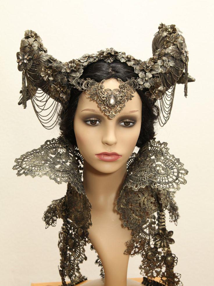 fantasy *ram horns* headpiece tiara <3