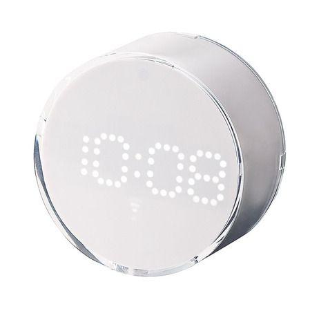 電波LEDドットアラームクロック/シンプル&モダン&かわいいな置き時計|インテリアハート