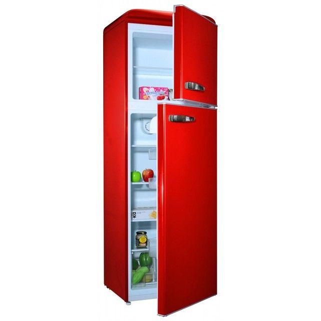 Réfrigérateur rouge 295L CALIFORNIA BCD295VCR 400E