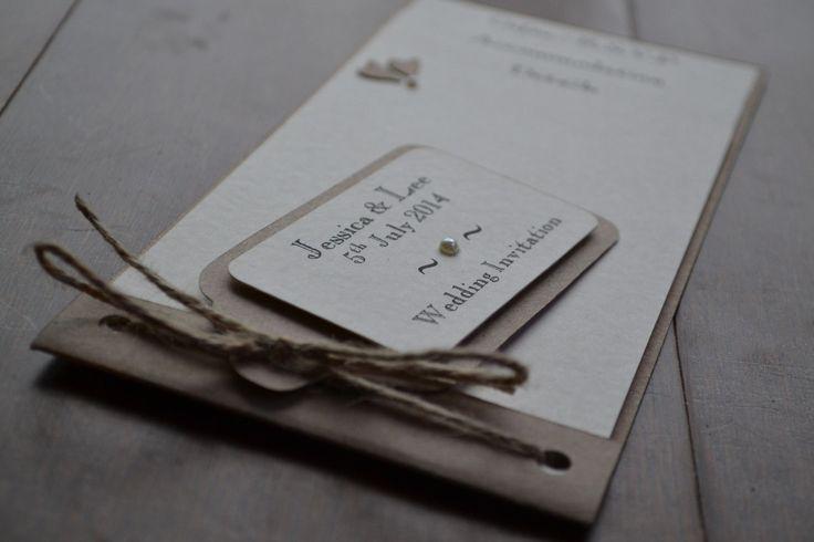 Handmade cheque book wedding invitation SAMPLE luggage tag VINTAGE design | eBay