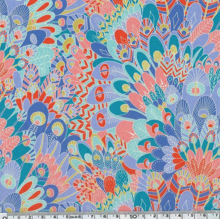 Liberty Eben Pêche coloris A 20 x 137 cm