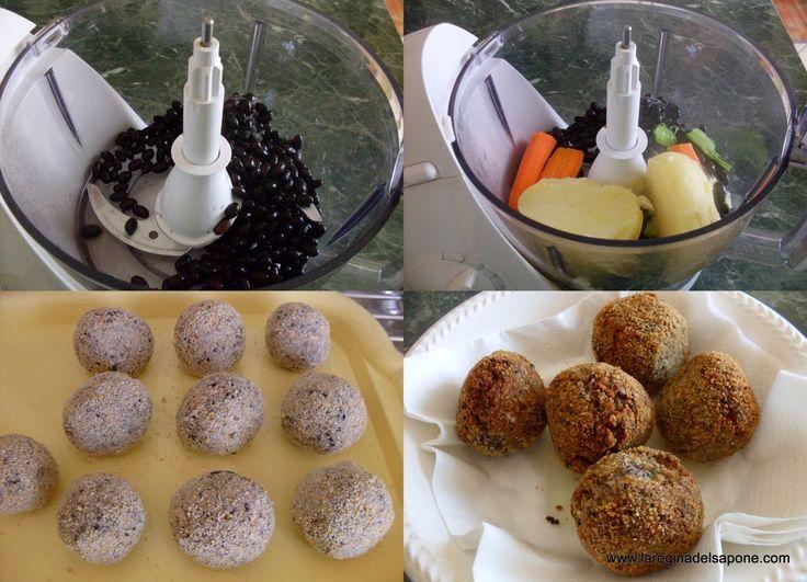 La Regina del Sapone: polpette black di fagioli neri (vegan)