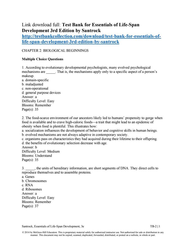 98 best test bank issuu images on pinterest banks authors and download test bank for essentials of life span development 3rd edition by santrock fandeluxe Image collections