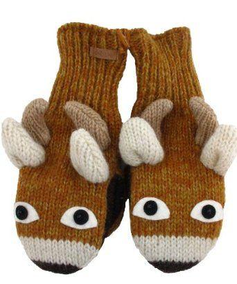 DeLux Baby Deer Tan Mittens DeLux. $26.38