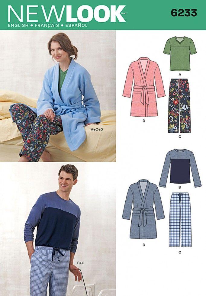 Mejores 14 imágenes de Sleepwear en Pinterest | Patrón para coser ...
