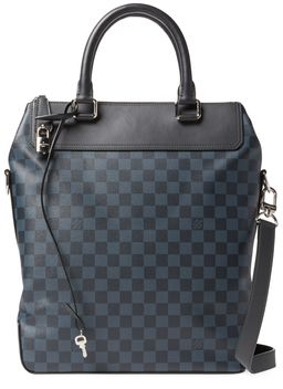 Damier Cobalt Greenwich by Louis Vuitton  Damier Cobalt Greenwich by Louis Vuitton  Available Colors: blue  Available Sizes:  DetailsDamier Cobalt Greenwich Condition: Carried - Excellent (minor signs of handling on leather/hardware; light wear on leather accents) Damier cobalt canvas Silver-tone hardware Double flat leather top handles and optional shoulder strap Exterior zip pocket Leather accents Alcantara interior lining with one zip pocket five flat pockets two utensil holders Zip top…