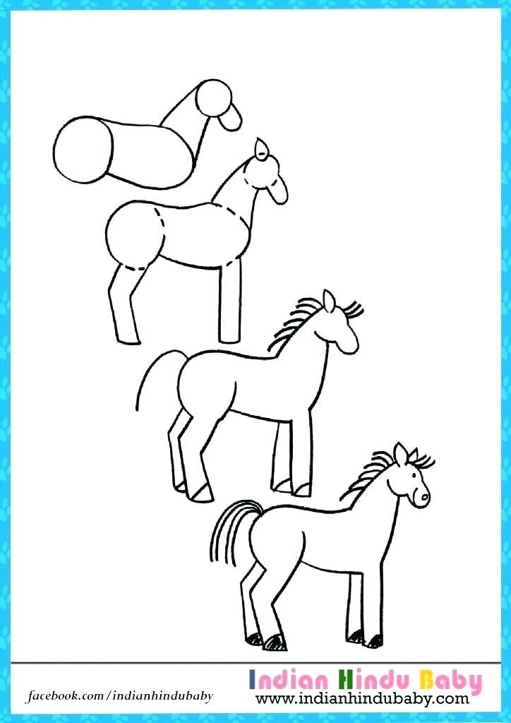 How To Draw A Horse Step By Step For Kids C718info How To Draw A Horse Drawing Tips Draw Drawing Drawingtips Horse Drawing Drawings Drawing For Kids