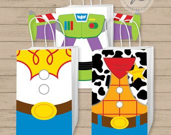 Toy Story Gift Bag Fronts, Toy Story Birthday Party, Toy Story, Toy Story Party, Toy Story Favor Bag, Gift Bag, Favor Tags, Party Favor