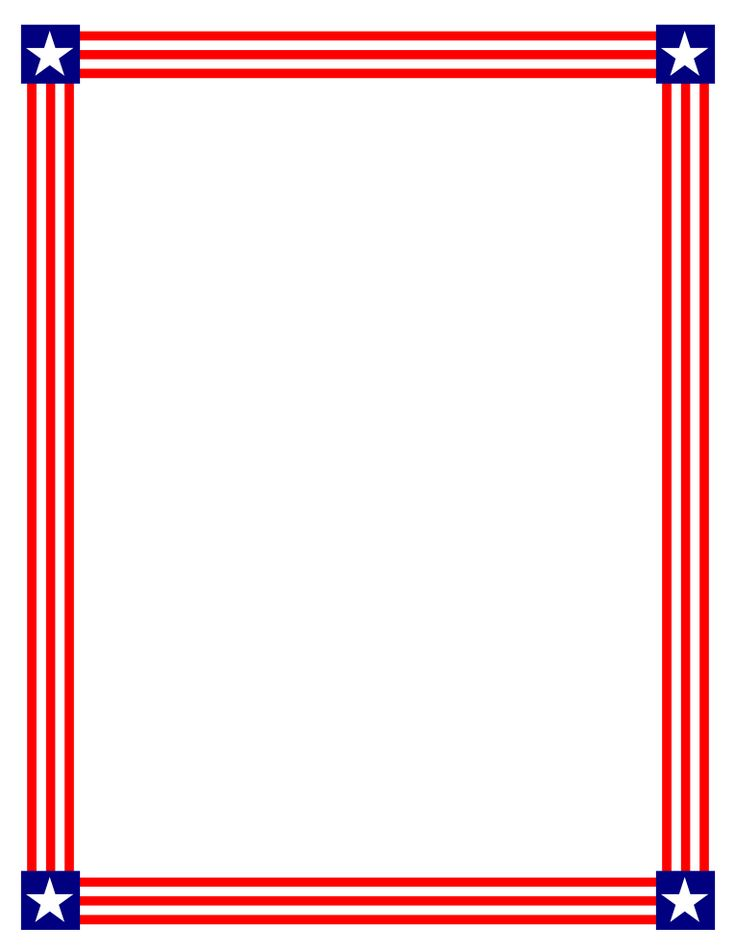 105 best 4th of july sationery images on pinterest flags american rh pinterest com Flag Borders and Frames Flag Page Border